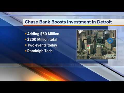 J.P. Morgan Chase to make $200M total investment in Detroit by 2022