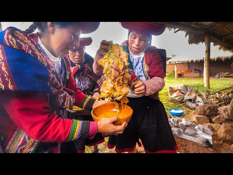 8,000 YEAR-OLD BARBECUE STYLE - Ancient Inca Food in Peru!