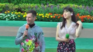 2019/5/19(日)最終レース終了後、東京競馬場のパドックにて行われた GⅠ:...