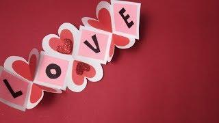 9 Handmade Card ideas for Scrapbook Tutorial-DIY Valentine's Day Explosion Box Card Tutorial
