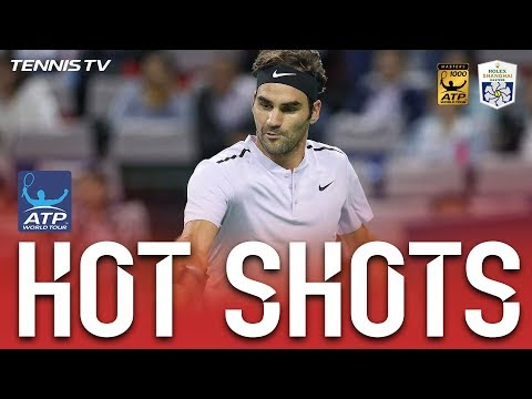 Federer Laces Backhand To Break Hot Shot Shanghai 2017