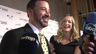 Jimmy Kimmel salutes David Letterman at Mark Twain Prize