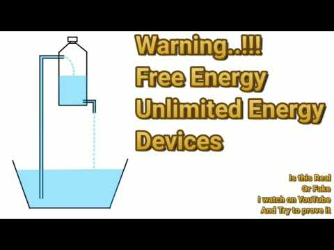 Free energy unlimited Water pump is real???