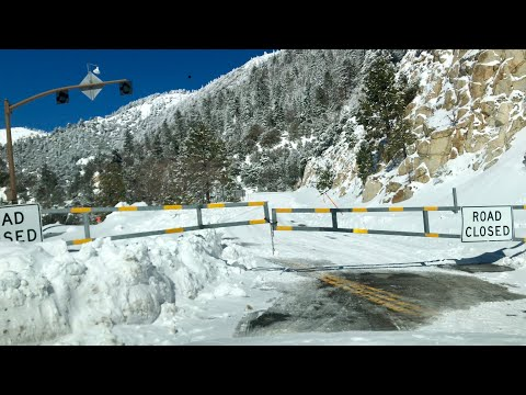 The Major Snow AFTERMATH. Biggest snow in 2 years for Big Bear Lake, CA. 2/22/2019