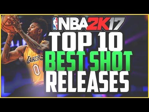 NBA 2K17 TOP 10 BEST SHOT RELEASES!