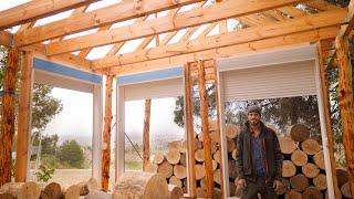Major Problems Installing Bİg Window Frames in Log Cabin