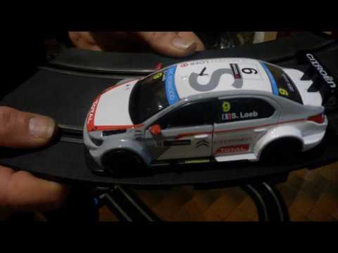 Slot Car 1/32 circuit routier scratch n°10 Scalextric Jouef  Scx  Citroën WTCC 2014 S.Loeb