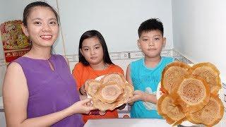 Thử làm bánh bò nướng chảo món ăn đường phố hot ở Sài Gòn