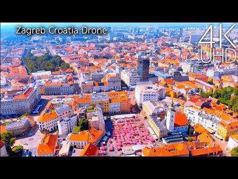 Zagreb Croatia 4K by Drone