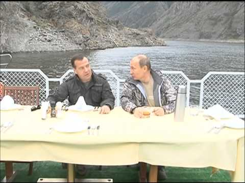 Putin and Medvedev day off in Tuva