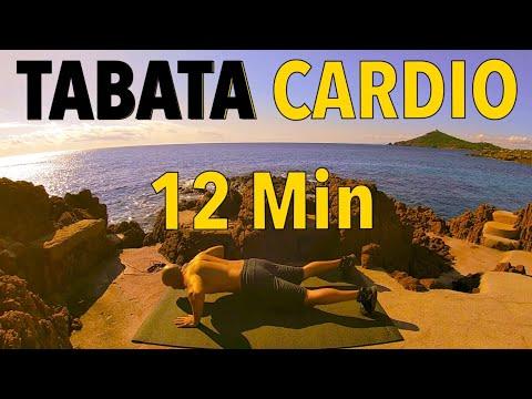 Tabata cardio 12 min / Hiit cardio / Interval training music