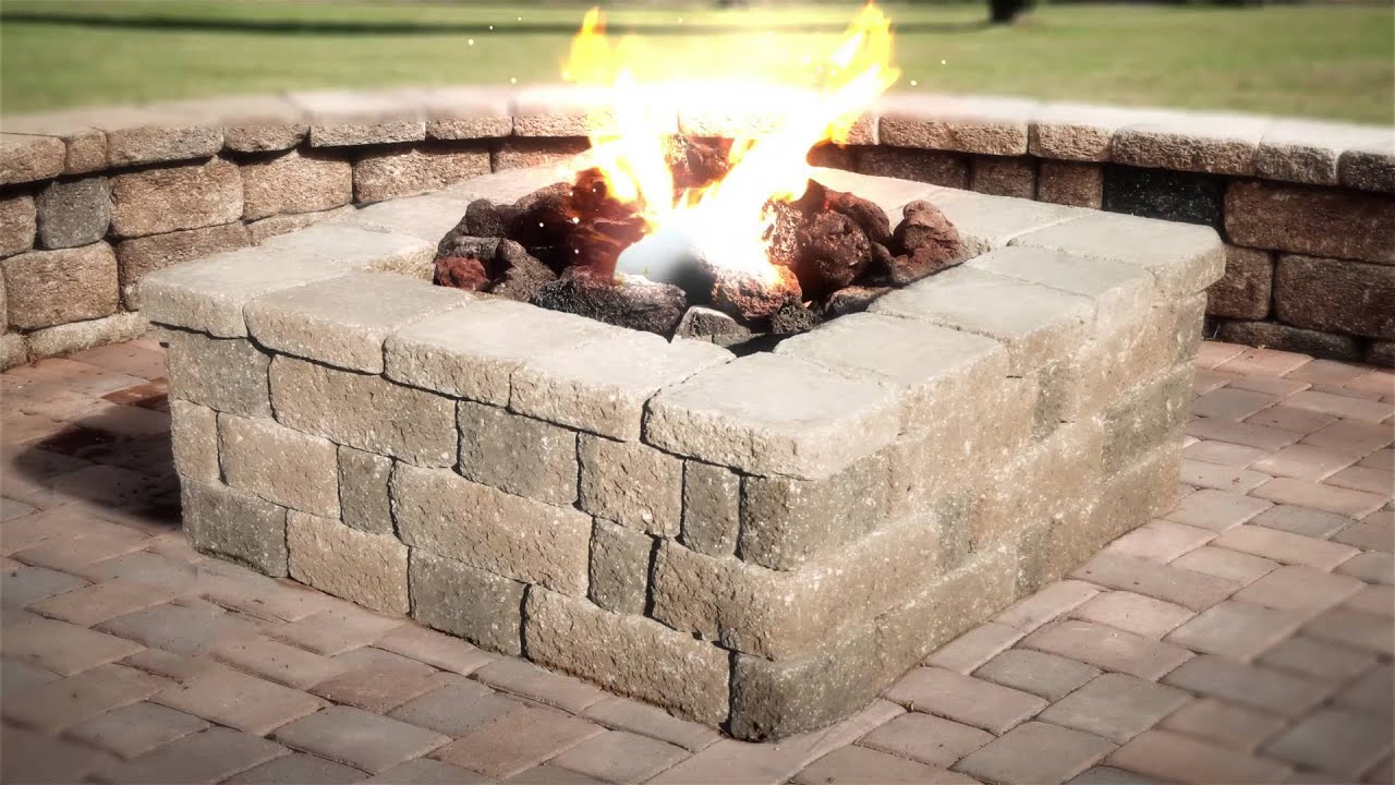 Fire Pit Keystone Retaining Walls Country Manor 3 Piece