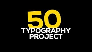 50 Typhography Titles Motion
