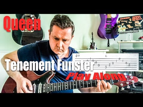 Queen - Tenement Funster - Guitar Play Along (Guitar Tab) Chords