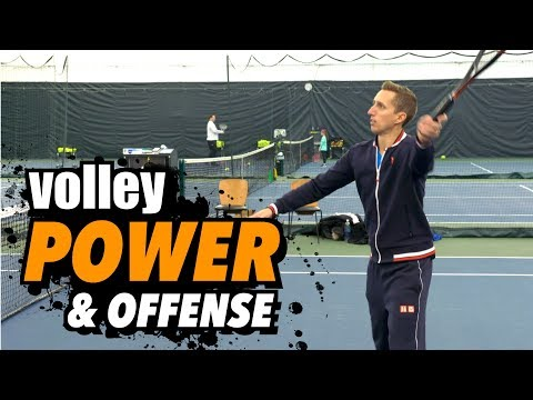 How to Put Away Volleys - Tennis Lesson - Power & Offense