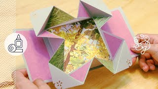 Tarjeta Fold-Out EXPANDIBLE Scrap + origami = Regalo