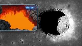 Deep Lunar Pits Are Exposed Moon Caves | Space Science Video