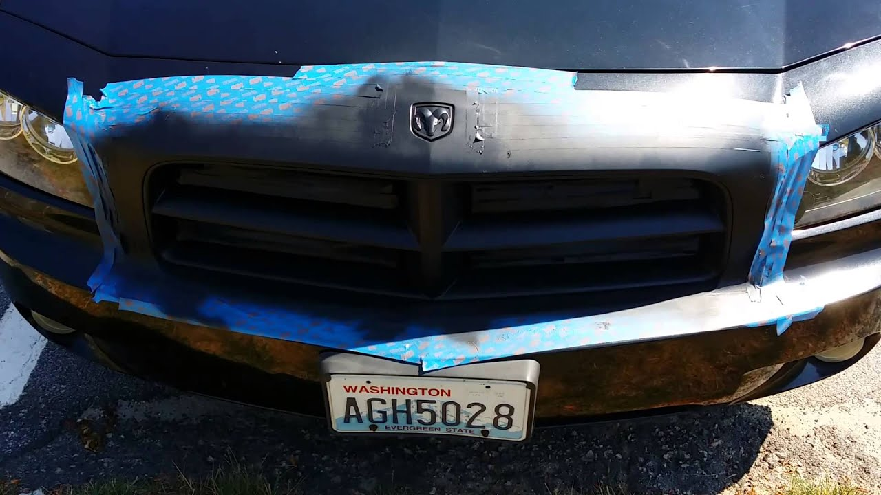 Plasti Dip Dodge Charger Sxt Grille And Emblems Youtube
