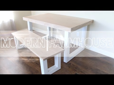 DIY Modern Dining Table Made from Plywood and Steel