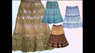 вязание крючком юбки: вязаные юбки