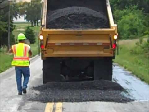 Road Patching Operation near Cole Camp, MO