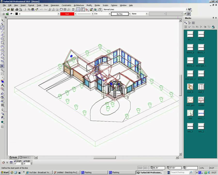 Importing Google SketchUp 3D Warehouse objects into TurboCAD as Blocks