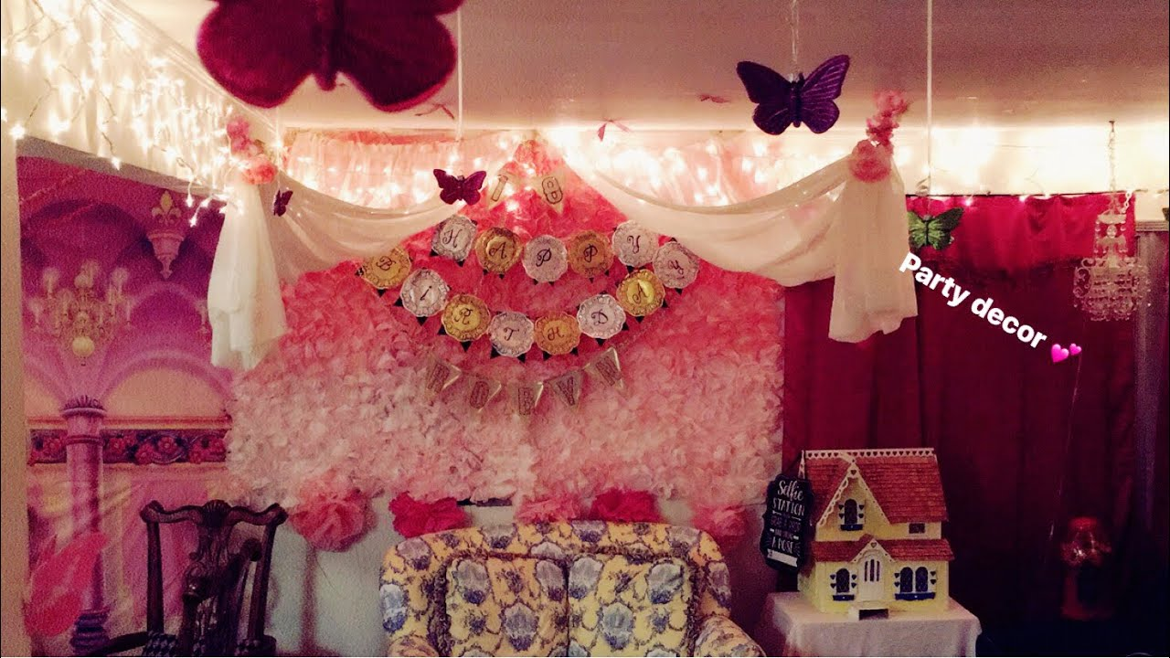18th Birthday Princess Theme Party Decorations Games