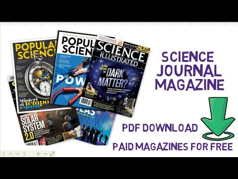 How to download paid science magazines for free || 100% working