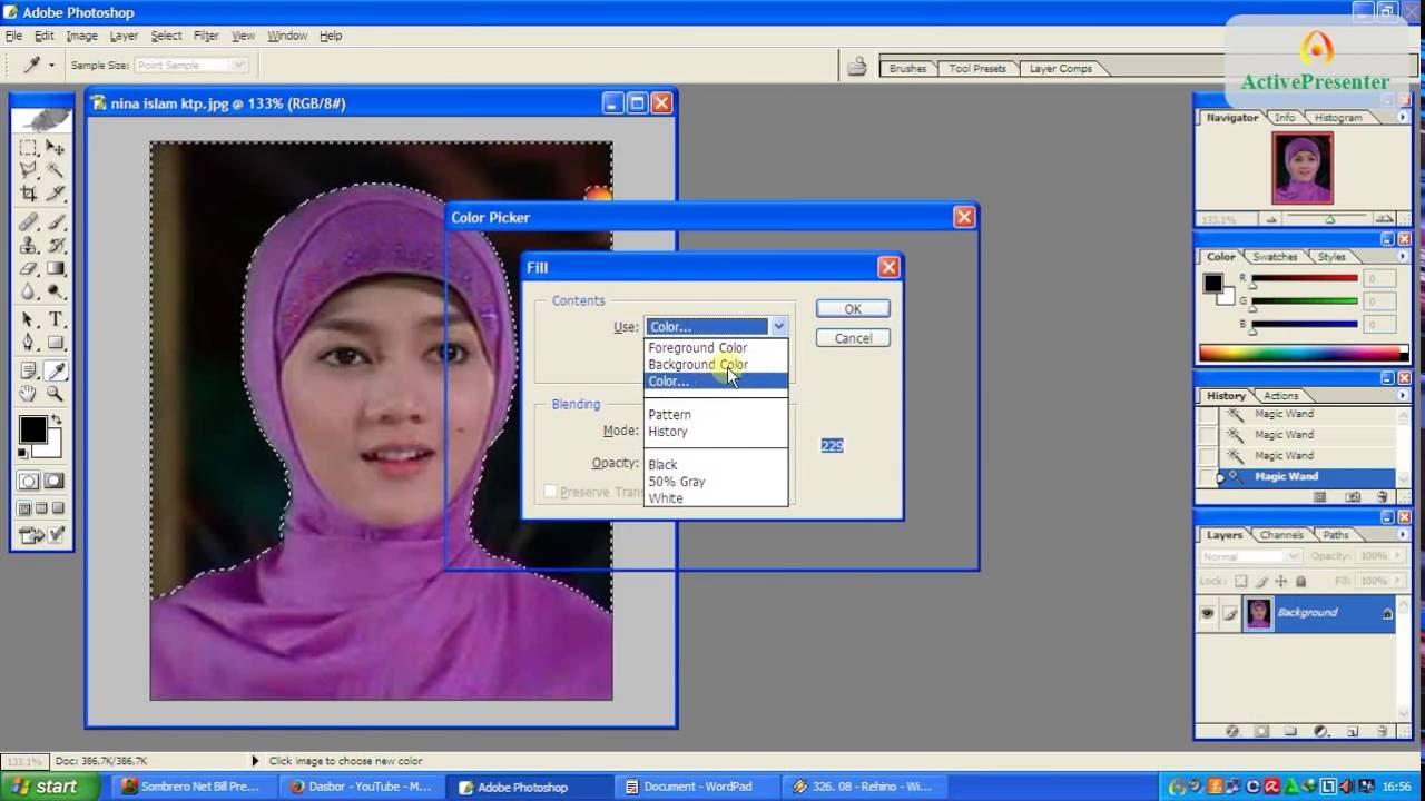Cara Cepat Edit background Foto untuk KTP - YouTube