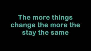 Bon Jovi The More Things Change Lyrics