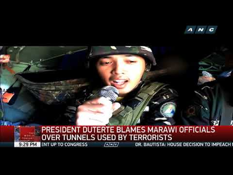 Duterte blames Marawi officials over tunnels used by terrorists