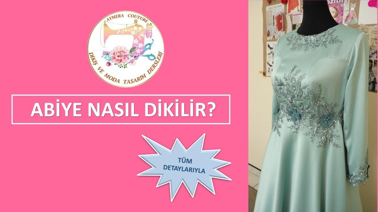 Abiye Elbise Nasil Dikilir How To Sew Hijab Dress Youtube