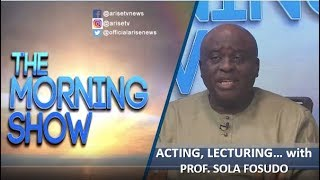 Prof Sola Fosudo Acting Lecturing and Humanitarian Service