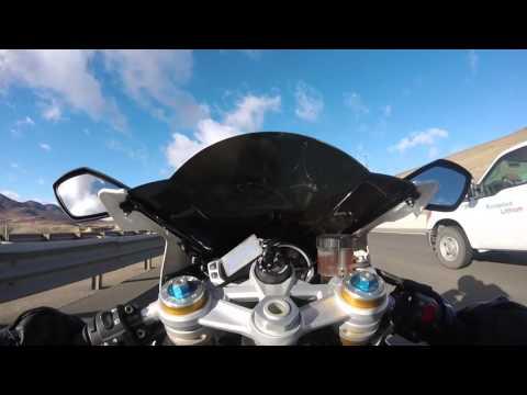 Triumph Daytona R top speed run