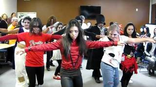 Office Halloween Thriller Dancing