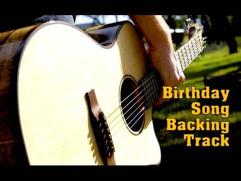 Karaoke Birthday Song Blues Backing Track