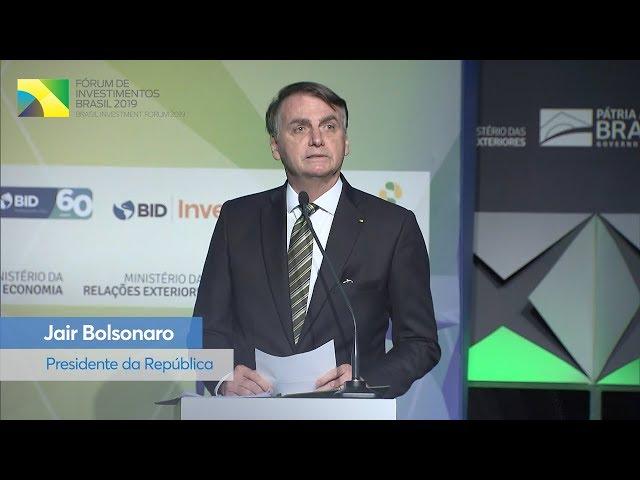 #BIF2019: Presidente agradece investidores e ressalta confiança no crescimento do país