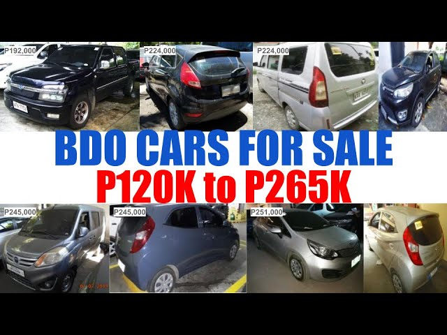 Bdo Repossessed Cars For Sale Price From P120k To P265k Youtube