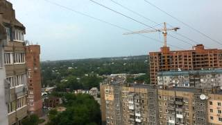 21.07.15 Утренний Обстрел Донецка ВСУ , видно полёт снаряда