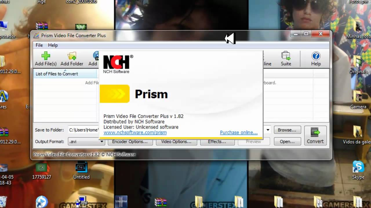 prism nch software code