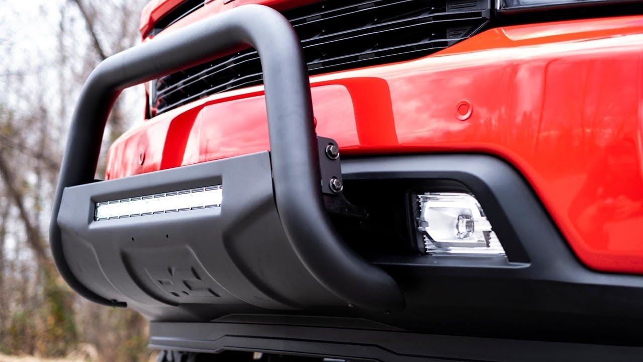 2019 Chevrolet Silverado 1500 LED Bull Bar - YouTube