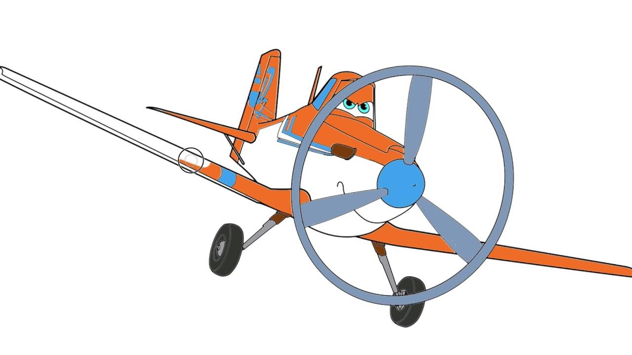 pintando aviones parte 1 disney colorear a dusty
