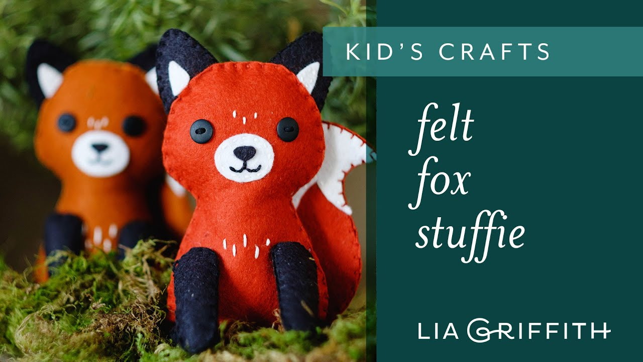 How To Make A Felt Fox Stuffie Youtube