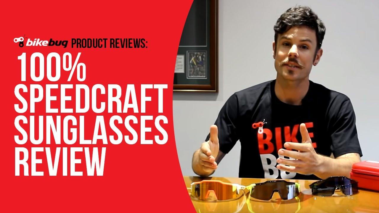 e7e3eba1da 100% Speedcraft Sunglasses Review - YouTube