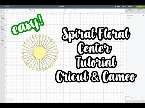 DIY Cricut/Cameo Paper Spiral Flower Center Tutorial | Pearl Paper Flowers