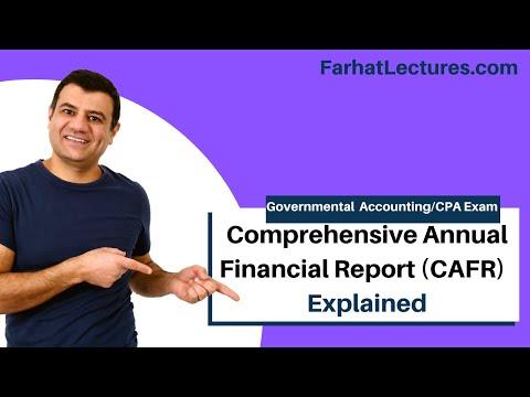 Comprehensive Annual Financial Report   CAFR   Governmental Accounting Course   CPA Exam FAR