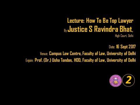 Law Faculty Delhi University Justice S Ravindra Bhat PART 02