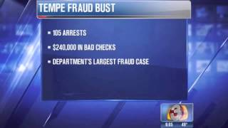 105 arrested for fraud when Tempe police break major bad-check ring