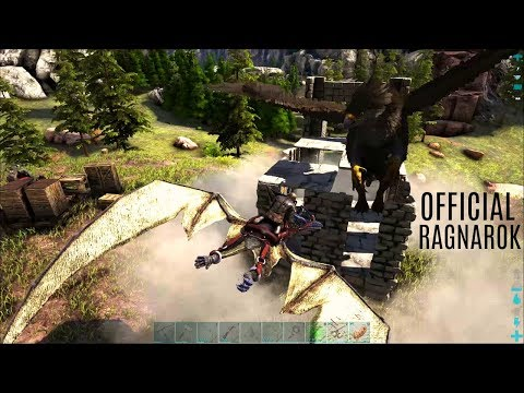 GRIFFIN TAME and 1st Turrets! - Ragnarok Official PVP (E3) - ARK Survival