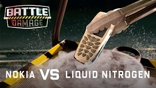 The Indestructible Nokia Phone vs Liquid Nitrogen - WIRED's Battle Damage